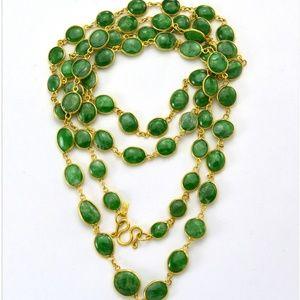 Jewelry - Genuine Emerald Chain Necklace